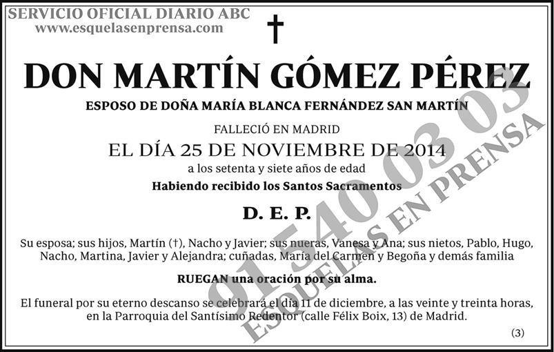 Martín Gómez Pérez